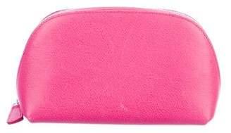 Smythson Panama Textured Cosmetic Bag