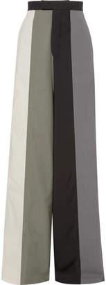 Rick Owens Striped Cotton-twill Wide-leg Pants - Gray