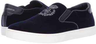 Dolce & Gabbana Palermo Velvet Sneaker Men's Shoes