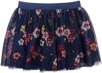 Epic Threads Toddler Girls Floral-Print Dot-Mesh Skirt, Created for Macy's