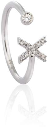 Astrid & Miyu - Silver Initial X Ring
