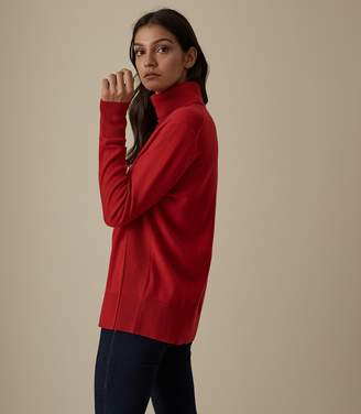 Reiss Clarissa - Cashmere Rollneck in Red