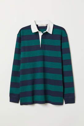 H&M Slub Jersey Rugby Shirt - Green