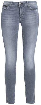 Pyper Distressed Low-Rise Skinny Jeans