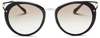 Prada Wanderer Evolution Round Sunglasses, 54mm