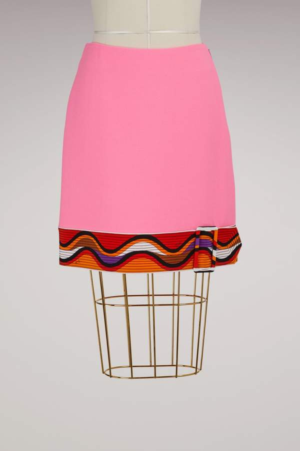 Emilio Pucci Wool skirt with belt detail