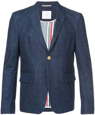 Thom Browne 4-bar Yoke Stitch Denim Sport Coat