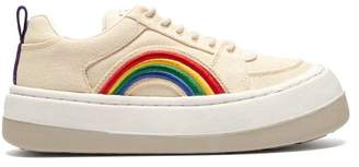 Eytys Rainbow Exaggerated Sole Canvas Trainers - Mens - Beige