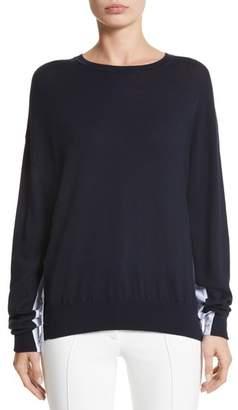 ADAM by Adam Lippes Cotton Gusset Merino Wool Sweater