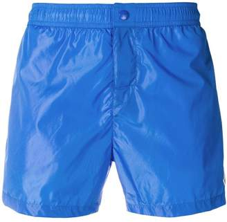 Moncler tri-stripe trim swim shorts