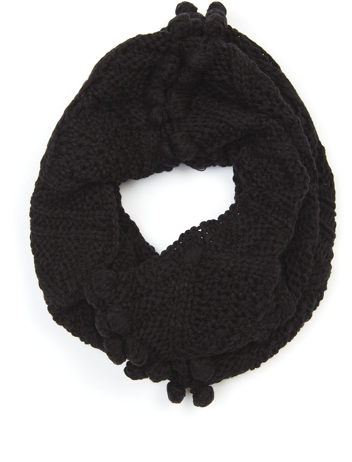 Bobble knitted snood