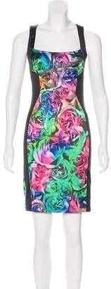Just Cavalli Floral Print Knee-Length Dress