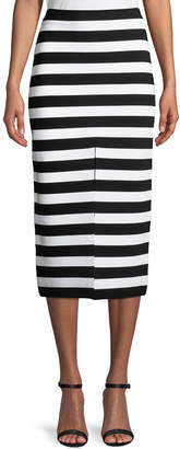 Proenza Schouler Striped Midi Pencil Skirt