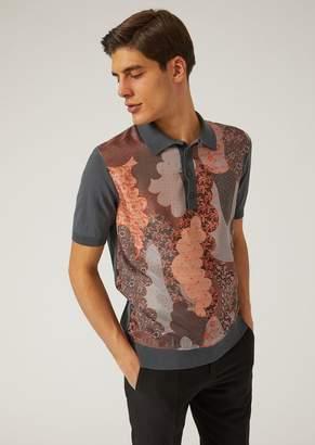 Emporio Armani Knit And Satin Polo Shirt