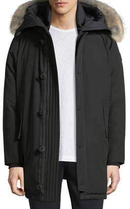 Moncler Aurelien Utility Jacket w/ Fur-Trim Hood