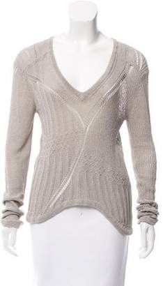 Kimberly Ovitz Open Knit Scoop Neck Sweater