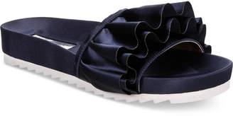INC International Concepts I.n.c. Women's Abena Pool Slides, Created for Macy's Women's Shoes