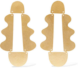 Matisse Annie Costello Brown Gold-tone Earrings