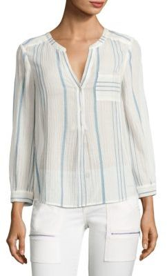 Joie Almae Striped Gauze Top $188 thestylecure.com