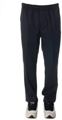 Oamc Grey Wool Pants With Elastic Waistband