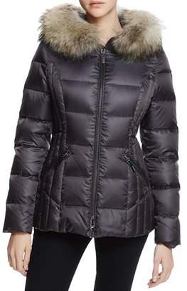 Dawn Levy Nikki Fur Trim Short Down Coat