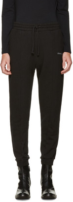Vetements Black Embroidered Logo Lounge Pants $770 thestylecure.com