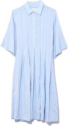 Carven Pleated Dress in Baby Blue
