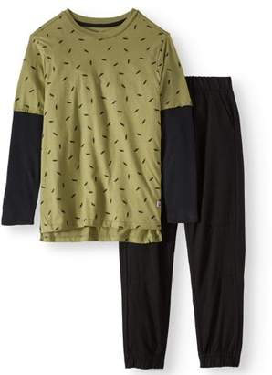 ccfaafaef Beverly Hills Polo Club Allover Print Long Sleeve and Twill Jogger Pant