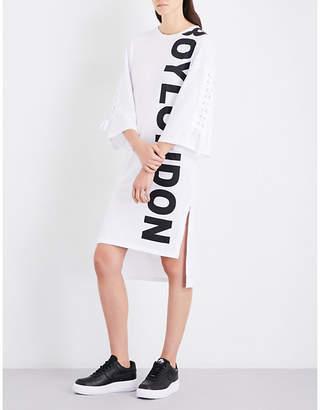 Boy London Logo-print cotton-jersey dress