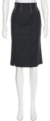 Ungaro Pinstripe Wool Skirt