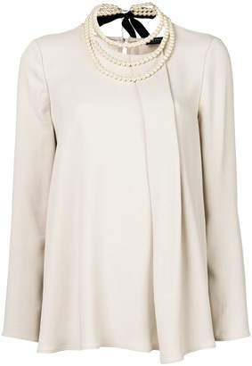 Twin-Set pleated blouse