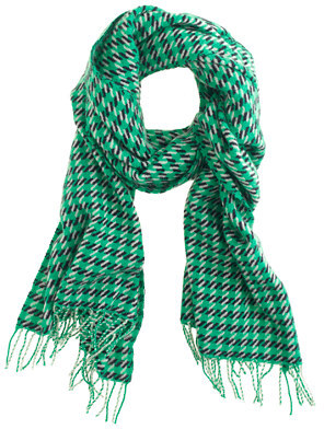 J.Crew Wool houndstooth scarf