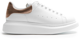 ALEXANDER MCQUEEN Low-top platform leather trainers $375 thestylecure.com
