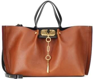 Valentino Go Logo Escape Medium leather shopper