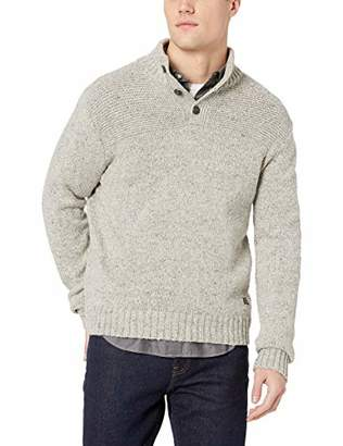 Lucky Brand Men's DONNEGAL 1/2 Button Mock Neck Sweater