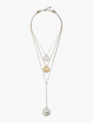 Lucky Brand LAYERED COIN NECKLACE