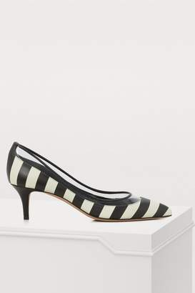 Valentino Gavarani calfskin striped pumps