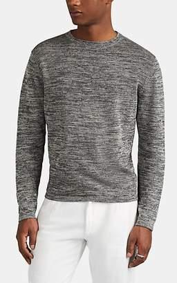 Eidos Men's Mélange Linen-Cotton Crewneck Sweater - Gray