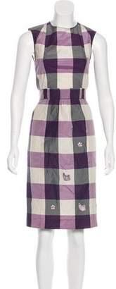 Saint Laurent Gingham Knee-Length Dress