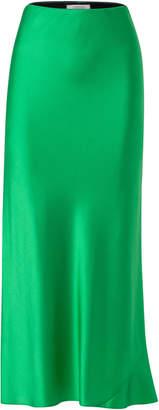 Schumacher Dorothee Shimmering Mystery Silk-Blend Satin Skirt Size: 2