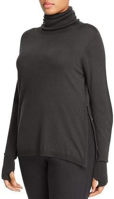 Marina Rinaldi Atletica Zip-Hem Turtleneck Sweater