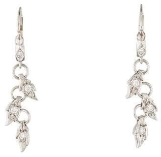 Cathy Waterman Platinum Diamond Drop Earrings