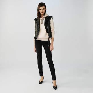 Maje Sleeveless leather vest
