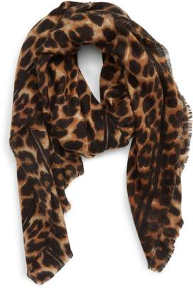 Sole Society Leopard Print Blanket Scarf