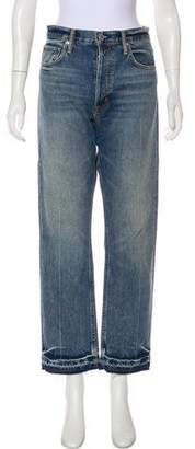 Helmut Lang Distressed High-Rise Jeans