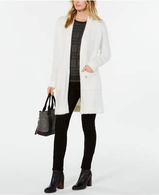 Tommy Hilfiger Fuzzy Open-Front Cardigan, Created for Macy's