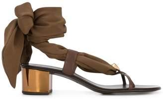 Giuseppe Zanotti Design scarf tie sandals