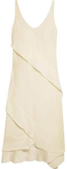 Cédric CharlierCédric Charlier - Crepe De Chine Midi Dress - Off-white