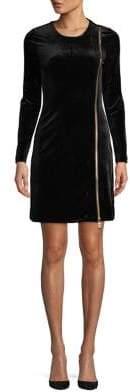 French Connection Zella Aurore Velvet Zippered Dress
