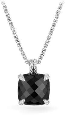 David Yurman Chatelaine® Pendant Necklace With Black Onyx And